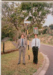 James and David in Higgo Road, Higgo Vale, Cape Town